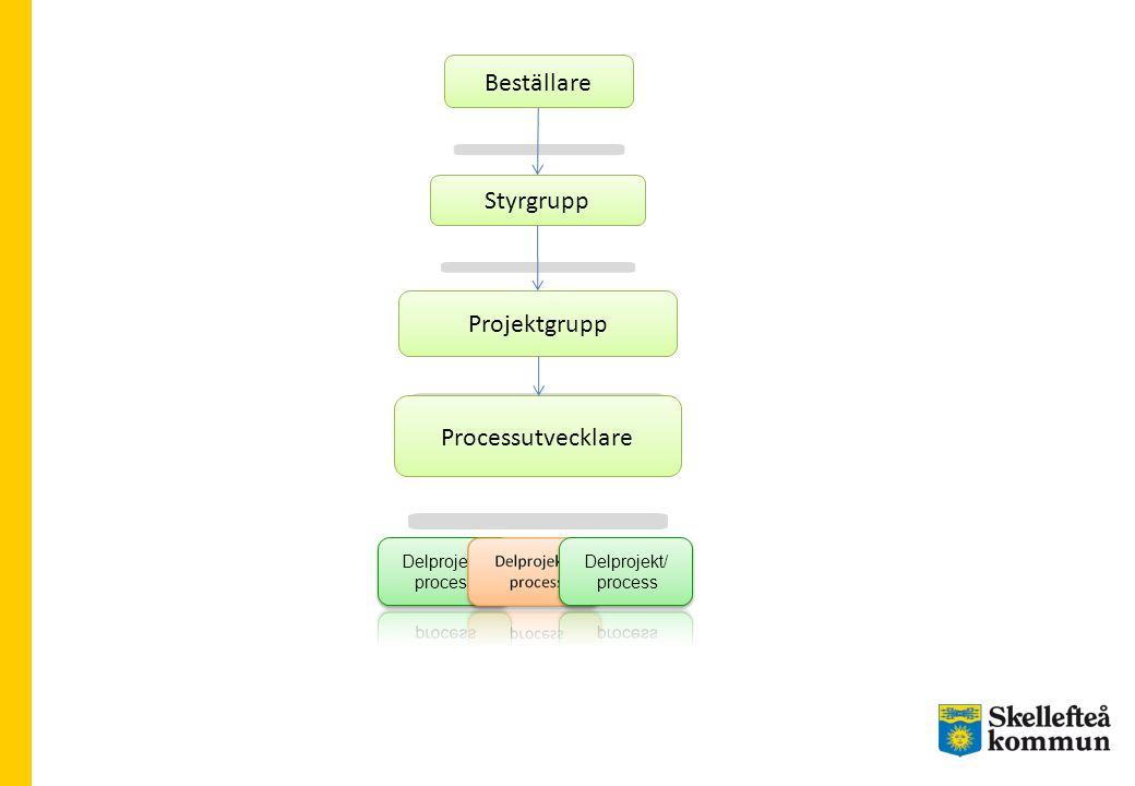 Styrgrupp Beställare Projektgrupp Processutvecklare