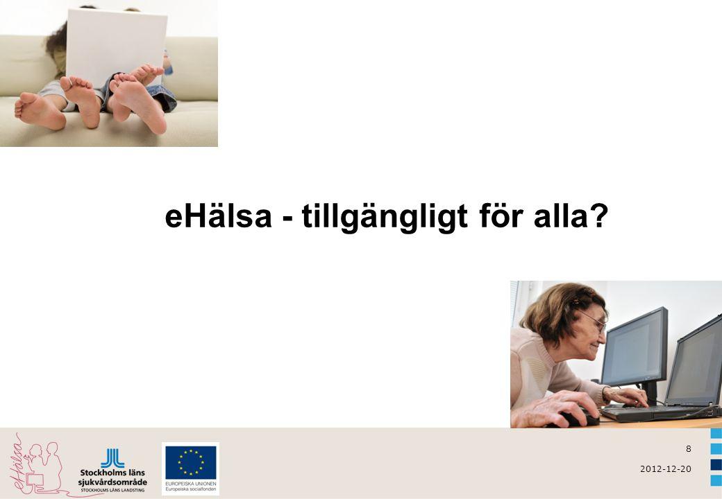19 2012-12-20 Nationell patientöversikt (NPÖ)  Info till vårdverksamheten om NPÖ  Info till patienter om sammanhållen journalföring