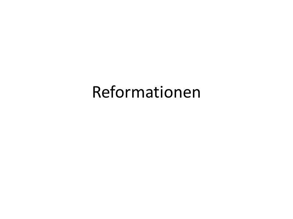 Reformationen Katolska kyrkans källor: - judisk historia - grekisk teologi - romersk kyrkorätt Reformationen bidrog till: - förstärkningen av de judiska elementen (Gamla Testamentet) - att tona ned de grekiska elementen - avfärdandet av de romerska elementen