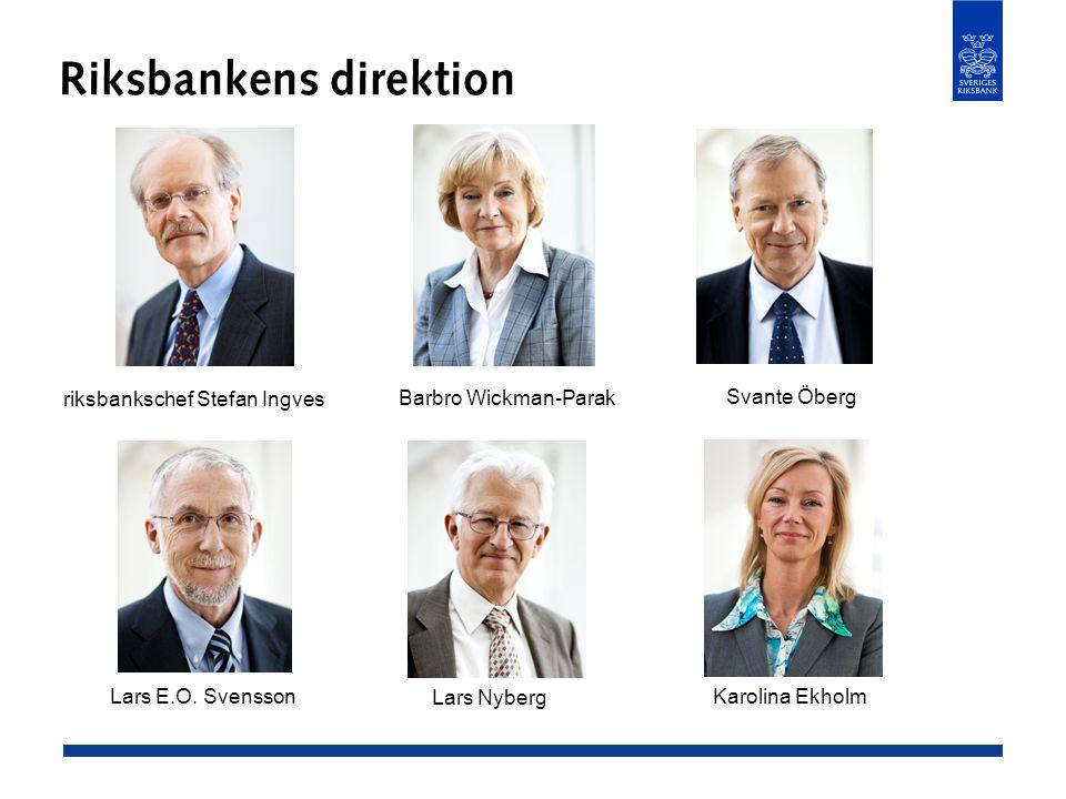 Riksbankens direktion riksbankschef Stefan Ingves Lars E.O.