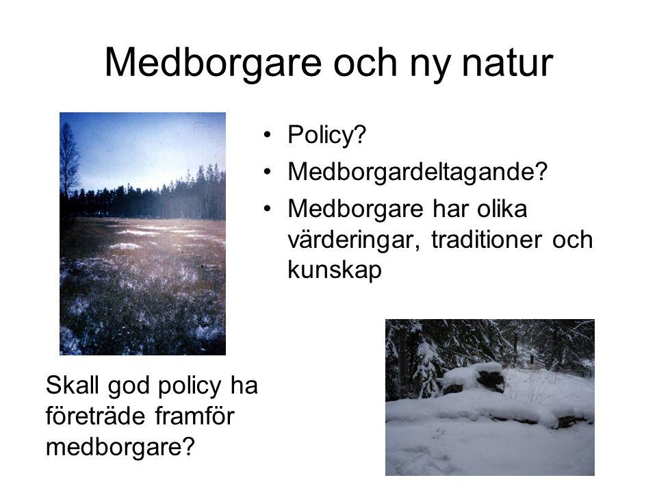 Medborgare och ny natur Policy.Medborgardeltagande.