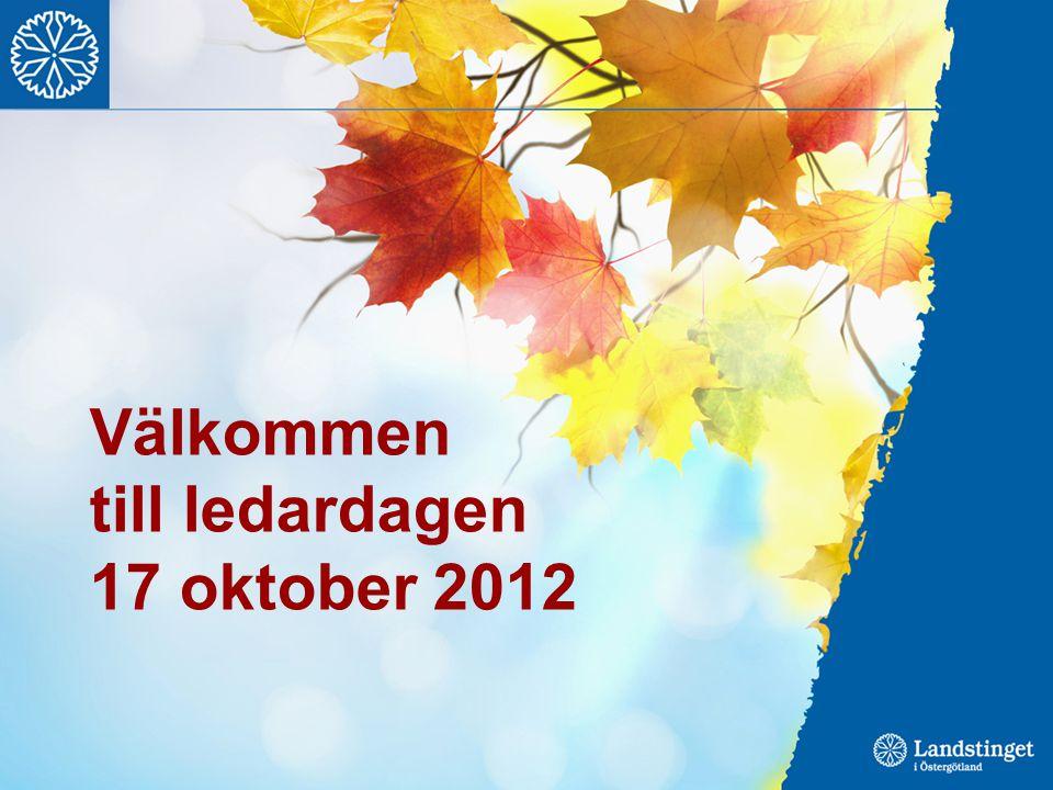 Välkommen till ledardagen 17 oktober 2012