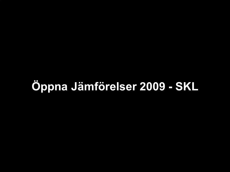 Öppna Jämförelser 2009 - SKL