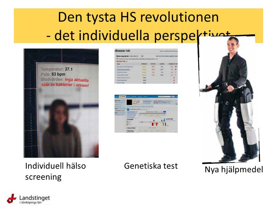 Den tysta HS revolutionen - det individuella perspektivet Genetiska testIndividuell hälso screening Nya hjälpmedel