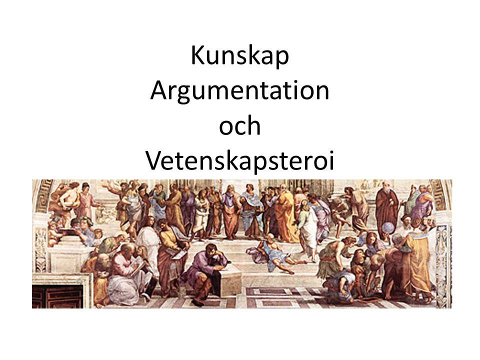 Kunskap Argumentation och Vetenskapsteroi