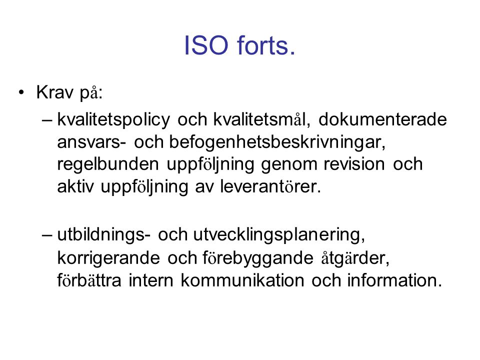 ISO forts.