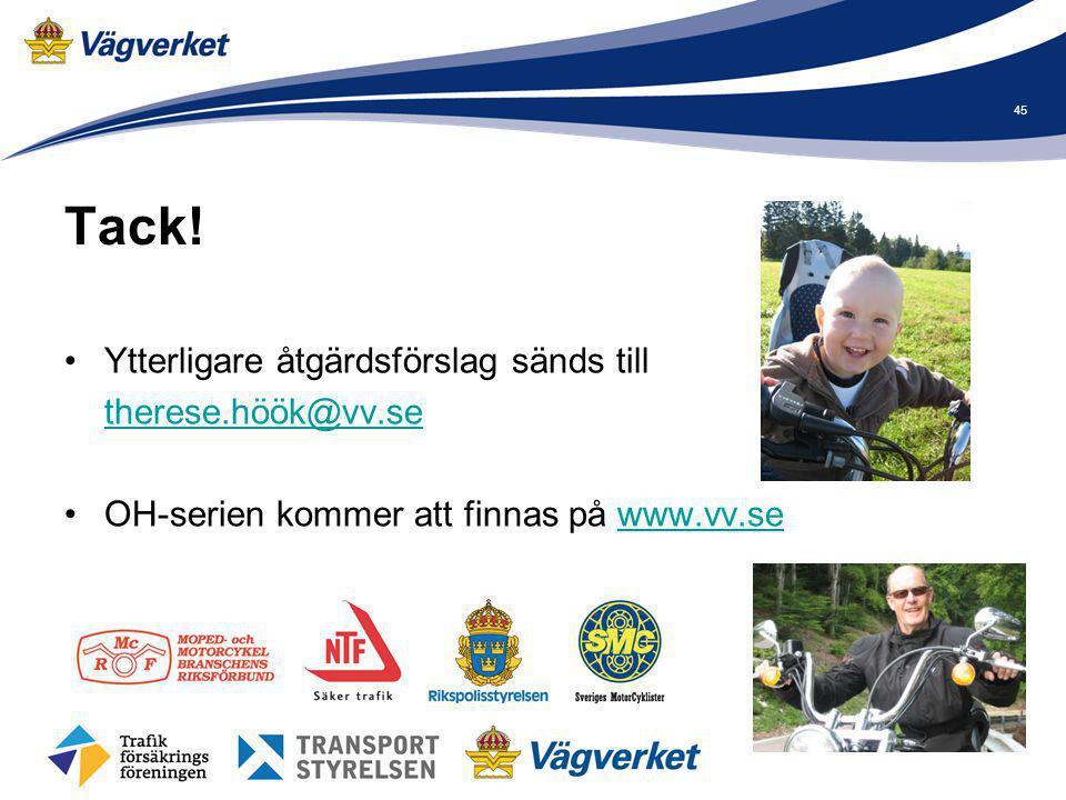 Tack! Ytterligare åtgärdsförslag sänds till therese.höök@vv.se OH-serien kommer att finnas på www.vv.sewww.vv.se 45