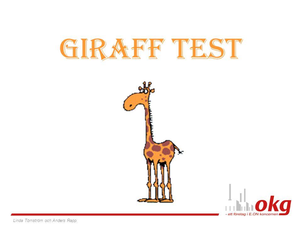 GIRAFF TEST Linda Törnström och Anders Rapp