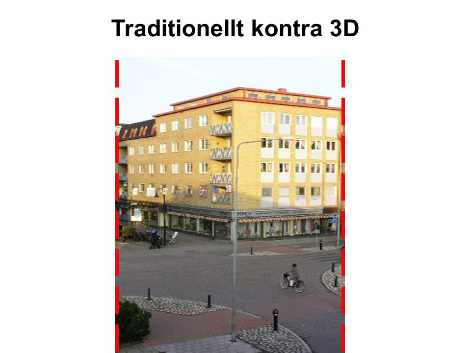 Traditionellt kontra 3D