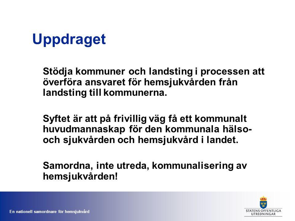 En nationell samordnare för hemsjukvård Äldreomsorgsmodellens utfall 2011 – Gävleborg