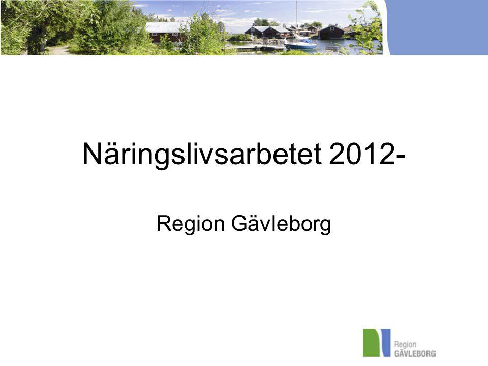 Näringslivsarbetet 2012- Region Gävleborg