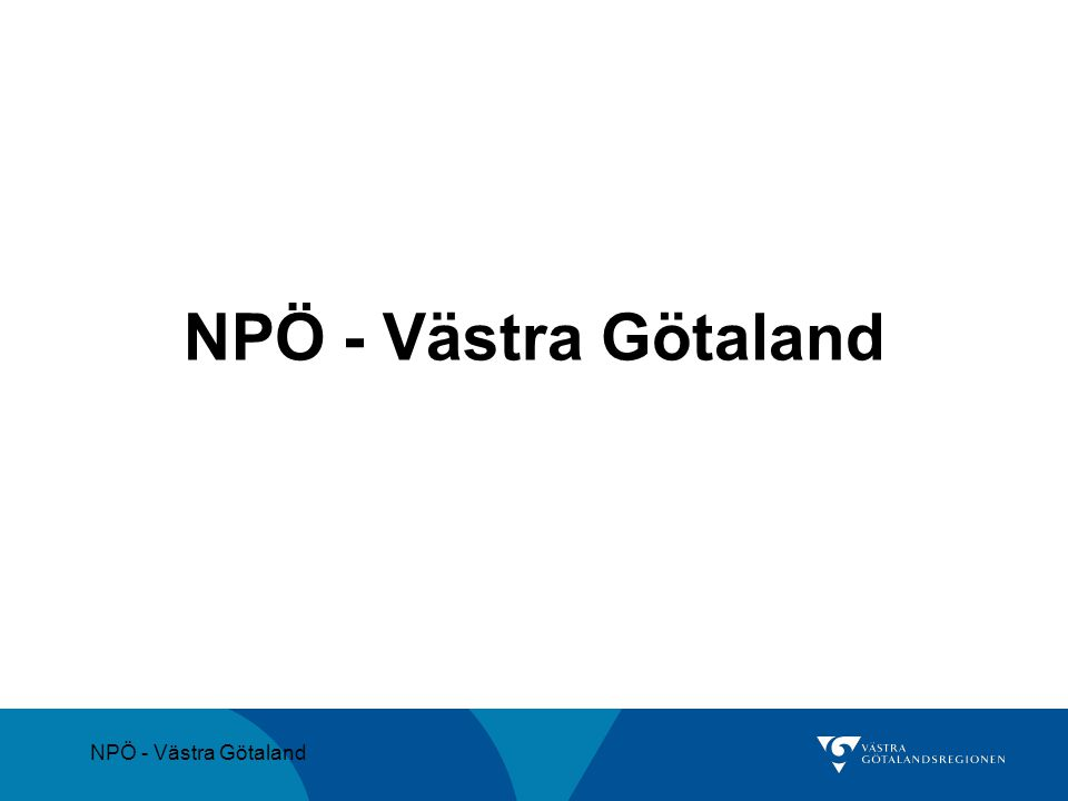 NPÖ - Västra Götaland