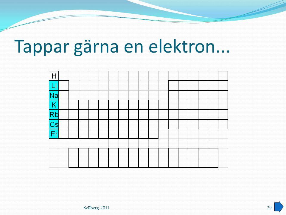 Tappar gärna en elektron... Sellberg 201129
