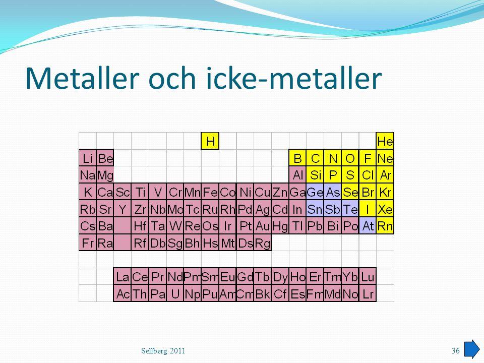 Metaller och icke-metaller Sellberg 201136