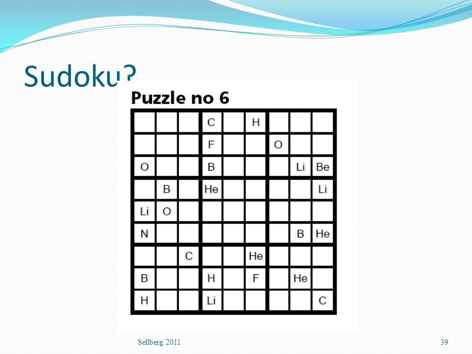 Sudoku? Sellberg 201139