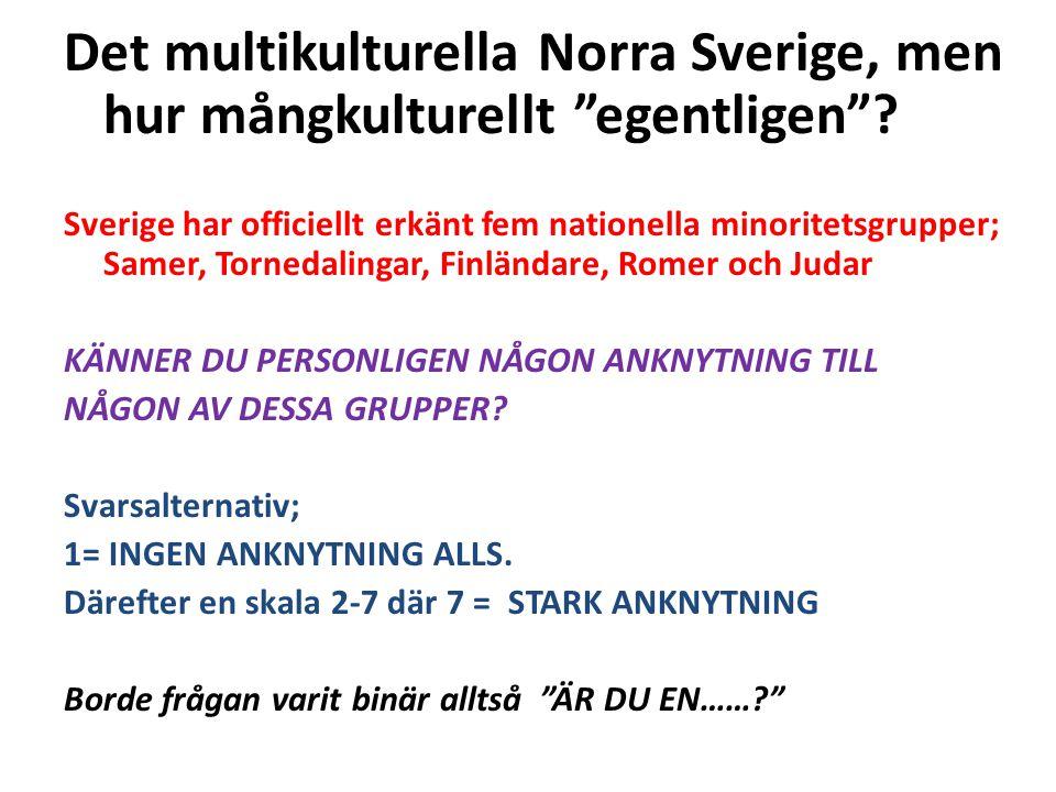 Det multikulturella Norra Sverige, men hur mångkulturellt egentligen .