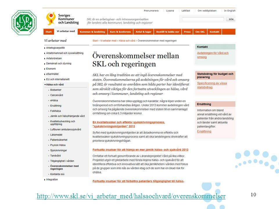 10 http://www.skl.se/vi_arbetar_med/halsaochvard/overenskommelser