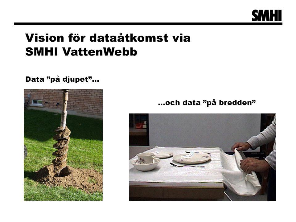 """Data """"på djupet""""… …och data """"på bredden"""" Vision för dataåtkomst via SMHI VattenWebb"""