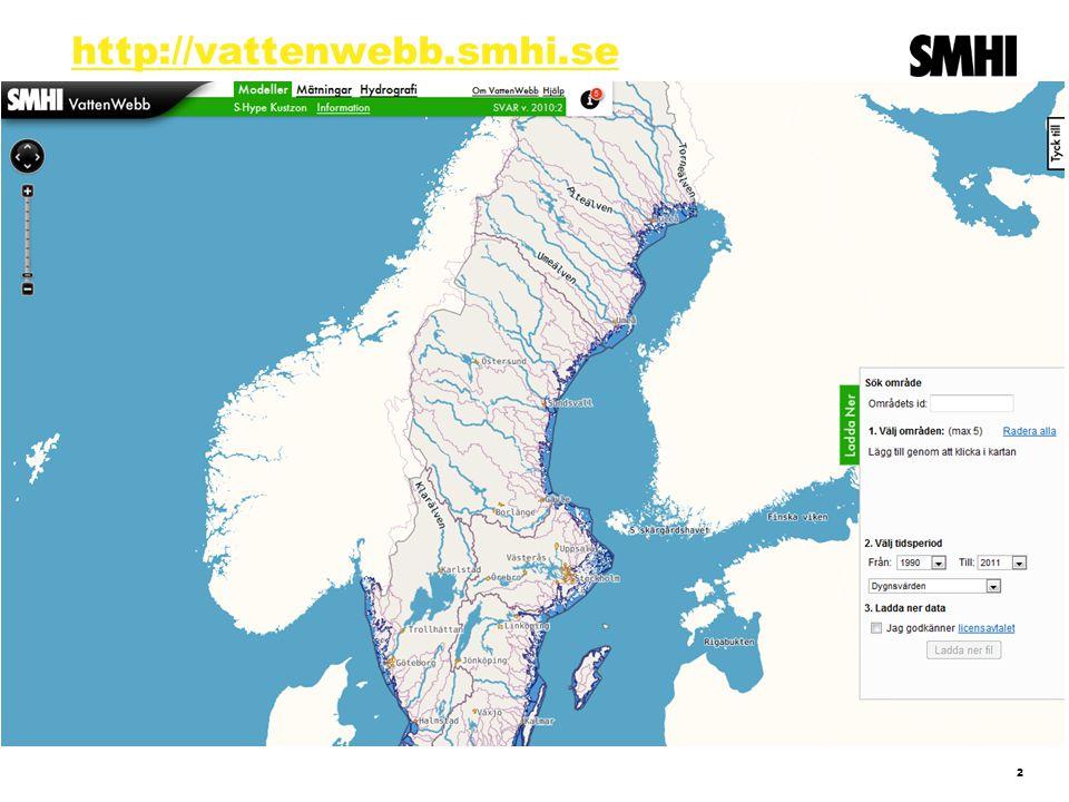 http://vattenwebb.smhi.se 2