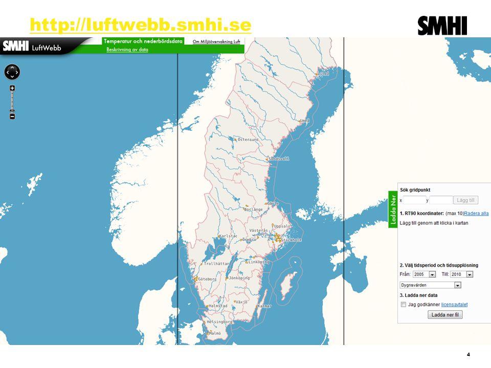 Web service API Web service API ger tillgång till allt, medan VattenWebb ska tillgodose två huvudbehov Tids- upplösning Geografisk omfattning DELARO Sverige MedelÅrMånadDygn Ge mig info om hela Sverige Ge mig detaljerad info om ett område