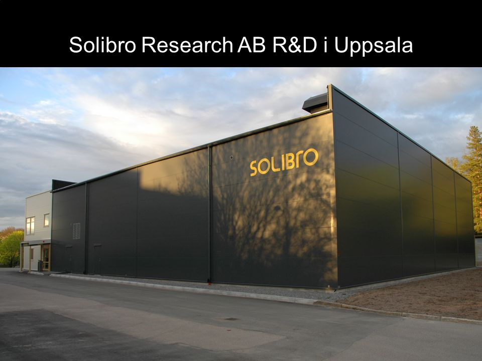 Solibro Research AB R&D i Uppsala