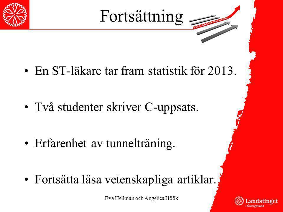 Fortsättning En ST-läkare tar fram statistik för 2013. Två studenter skriver C-uppsats. Erfarenhet av tunnelträning. Fortsätta läsa vetenskapliga arti