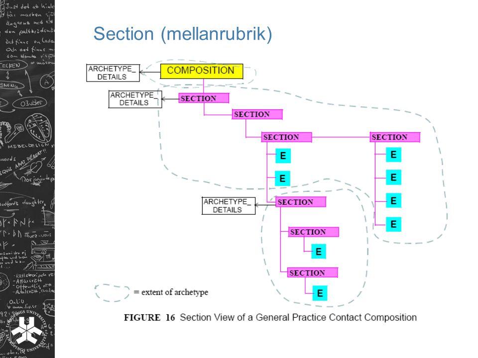Section (mellanrubrik)