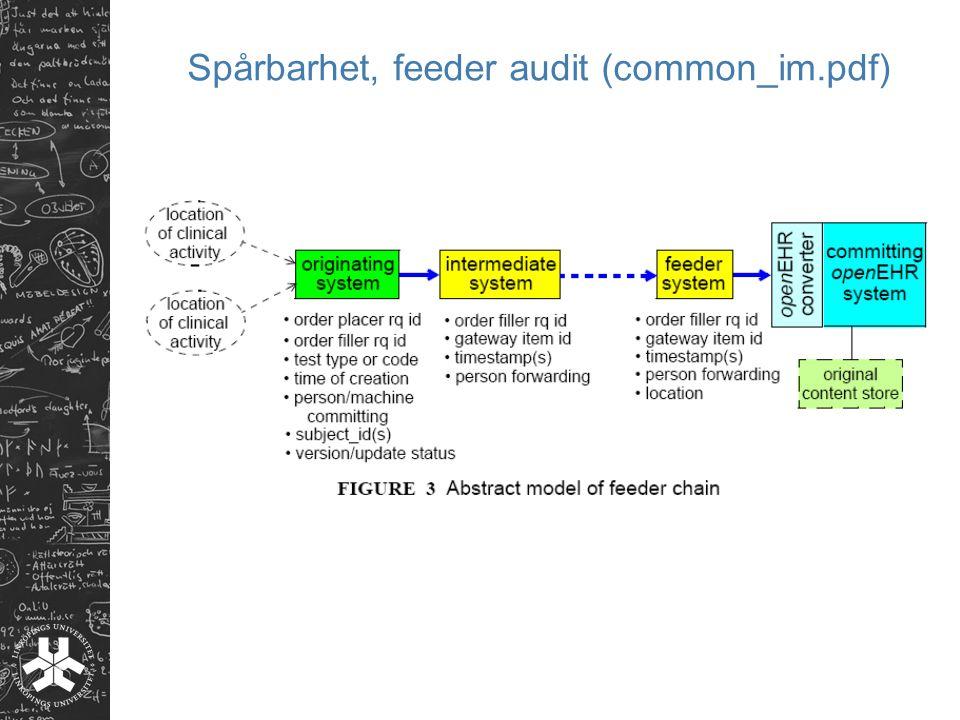 Spårbarhet, feeder audit (common_im.pdf)