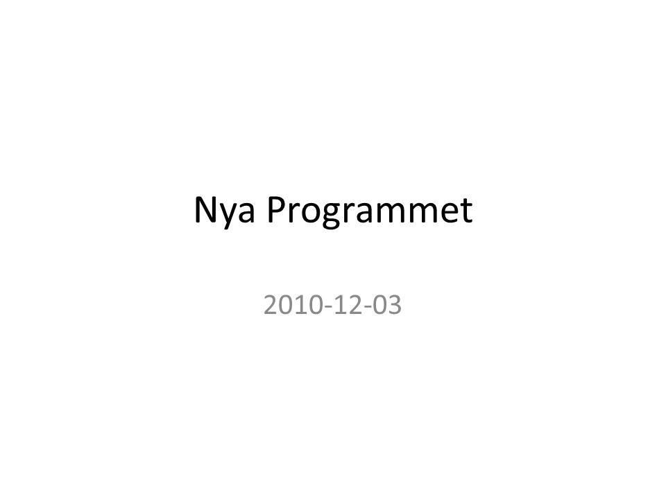 Nya Programmet 2010-12-03
