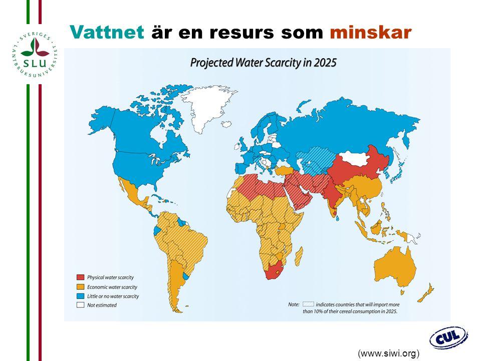 19 (www.siwi.org) Vattnet är en resurs som minskar
