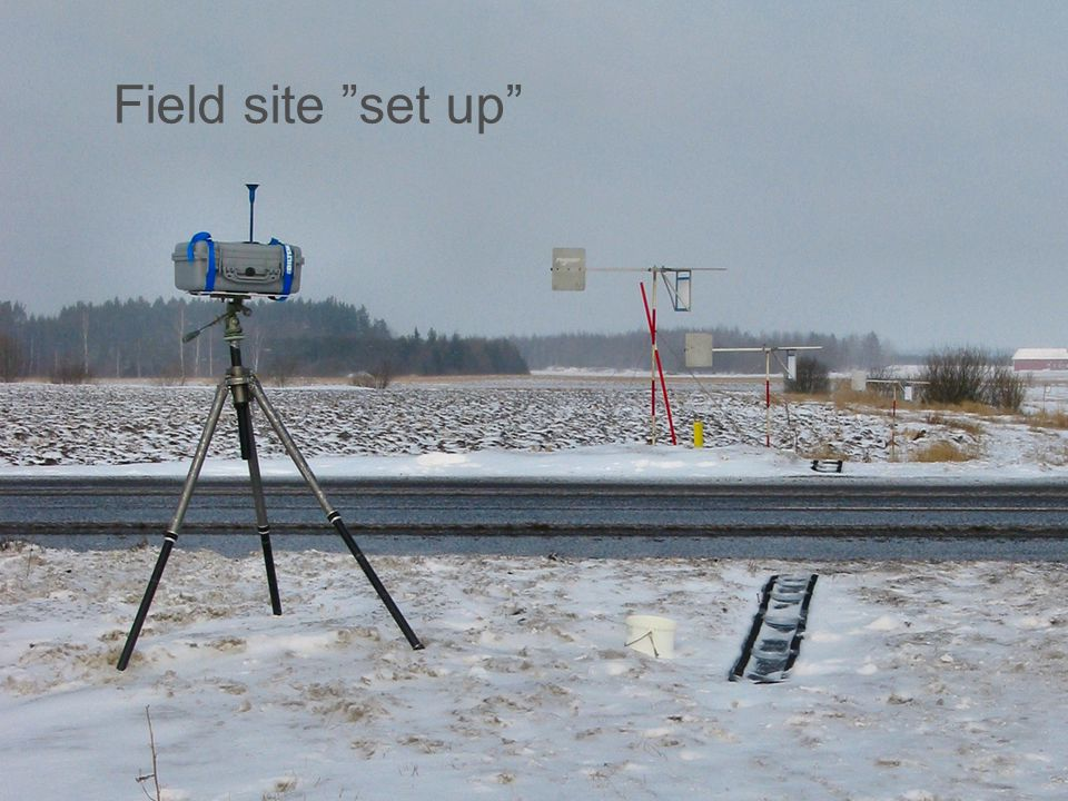 Field site set up