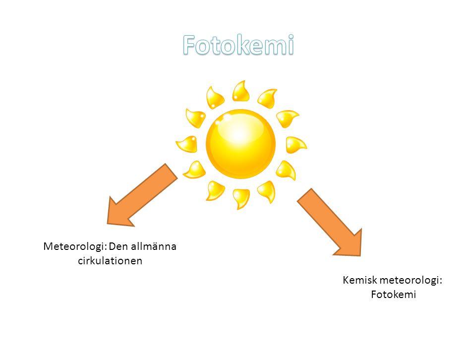 Meteorologi: Den allmänna cirkulationen Kemisk meteorologi: Fotokemi