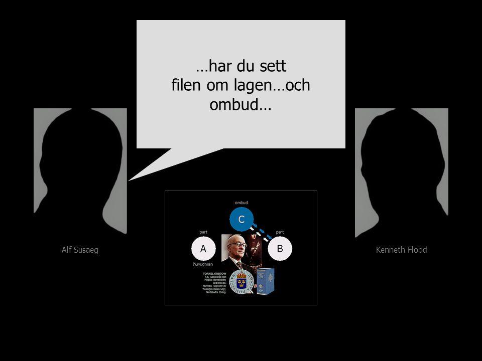 Alf Susaeg Kenneth Flood …har du sett filen om lagen…och ombud… …har du sett filen om lagen…och ombud…