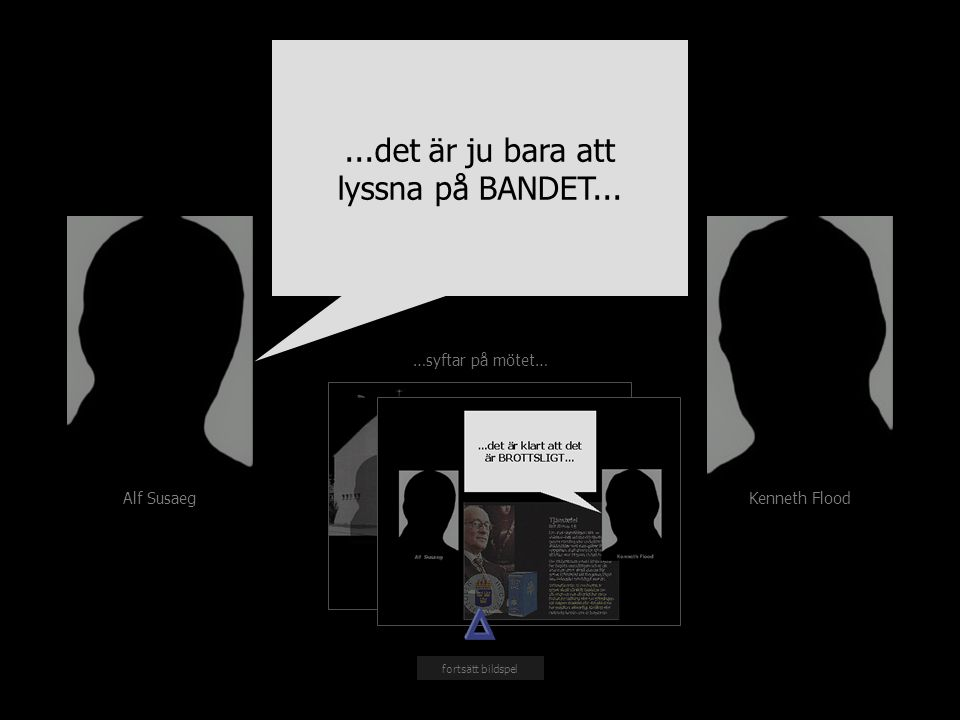 Alf Susaeg Kenneth Flood …syftar på mötet… fortsätt bildspel...det är ju bara att lyssna på BANDET...