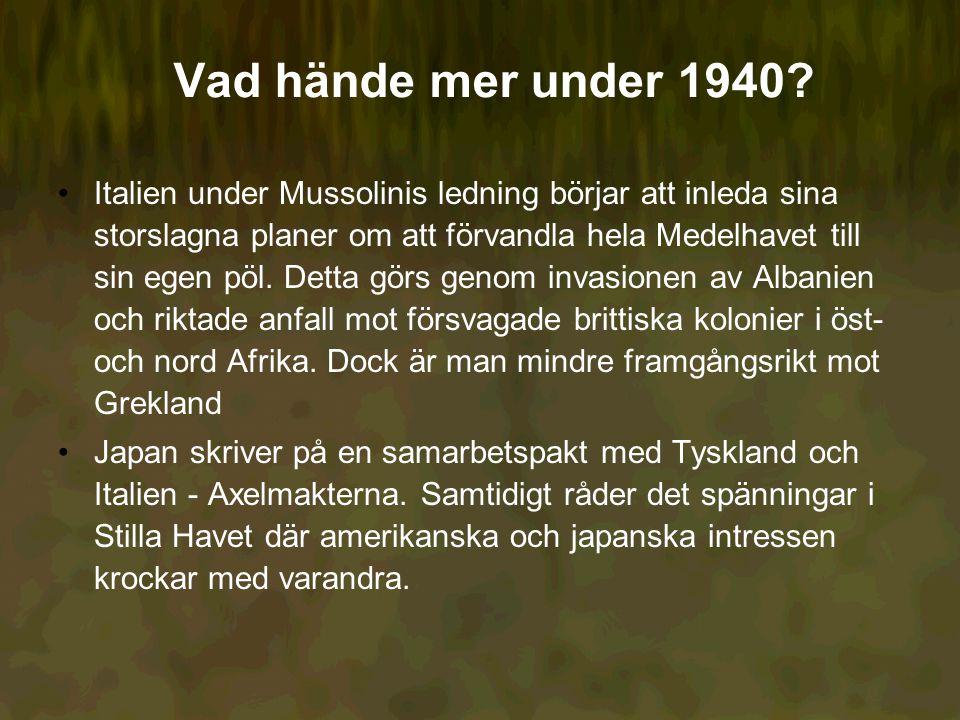 Vad hände mer under 1940.