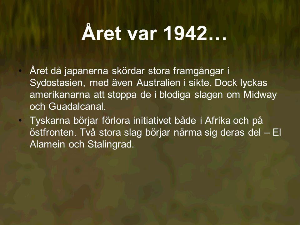 Året var 1942… Året då japanerna skördar stora framgångar i Sydostasien, med även Australien i sikte.