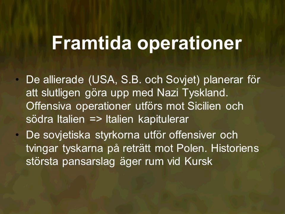 Framtida operationer De allierade (USA, S.B.