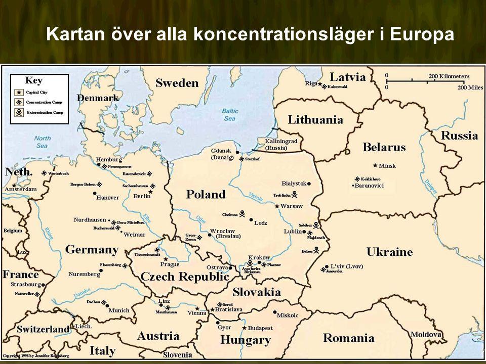 Kartan över alla koncentrationsläger i Europa