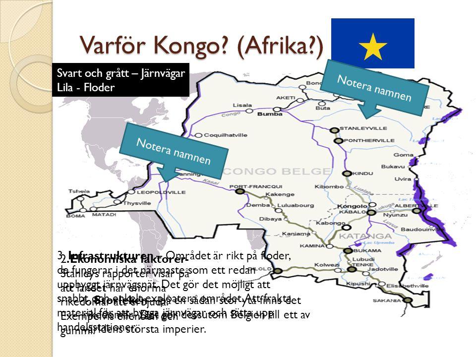 Varför Kongo.(Afrika?) 1. Storleken – på en sådan stor yta finns det rikedomar.