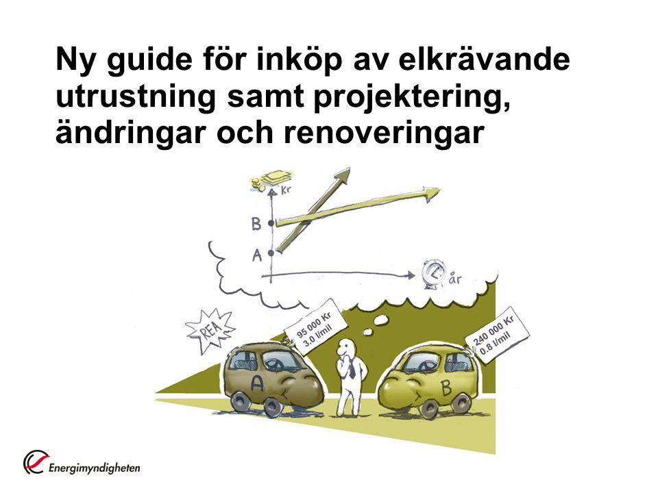 Ny guide för inköp av elkrävande utrustning samt projektering, ändringar och renoveringar