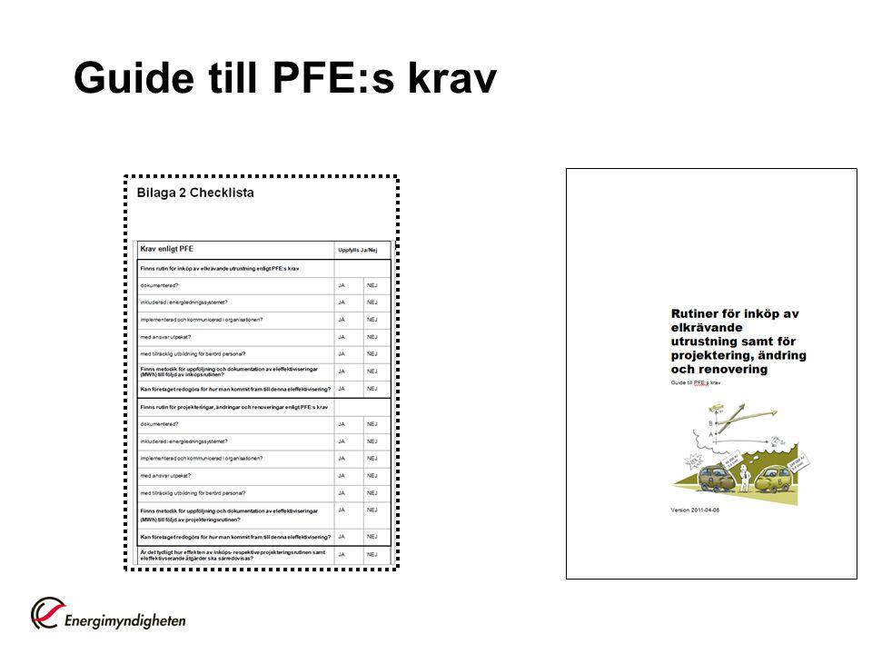 Guide till PFE:s krav