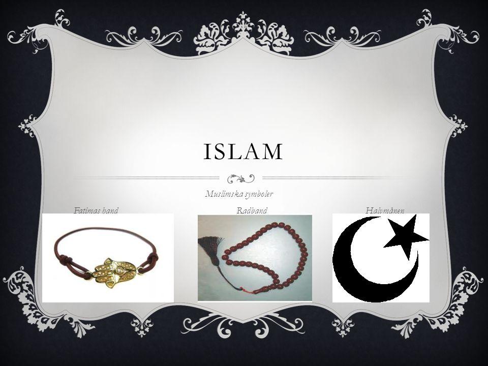 ISLAM Muslimska symboler Fatimas hand Radband Halvmånen