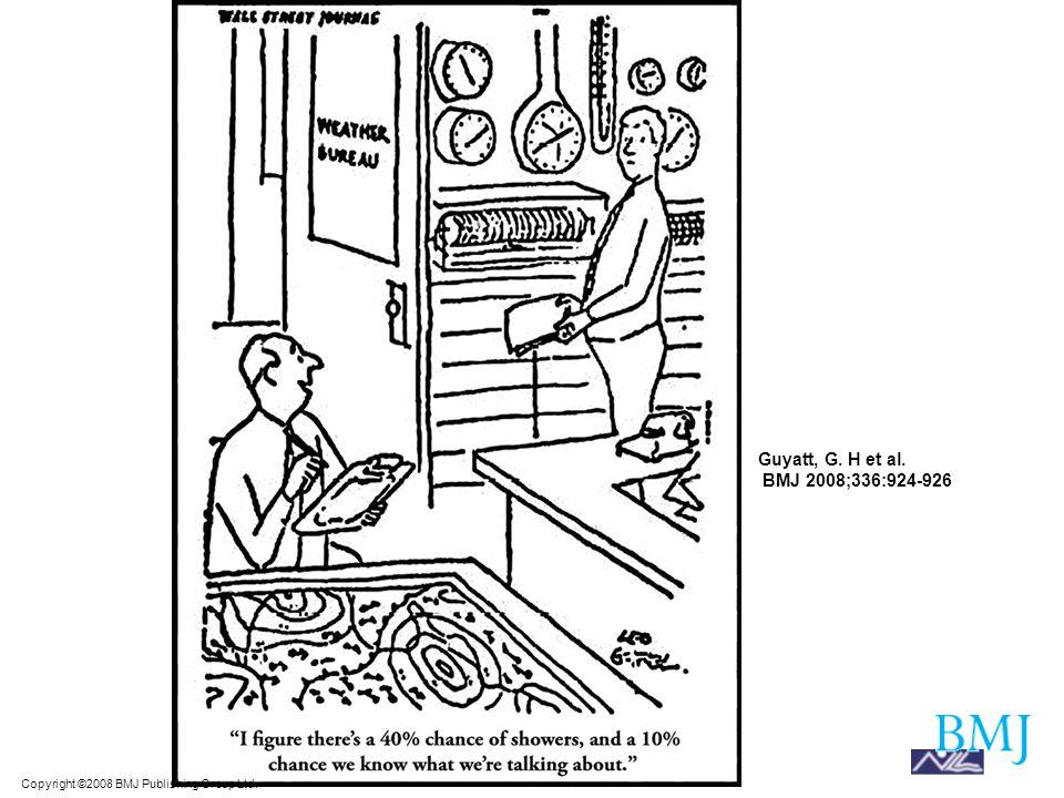 Copyright ©2008 BMJ Publishing Group Ltd. Guyatt, G. H et al. BMJ 2008;336:924-926