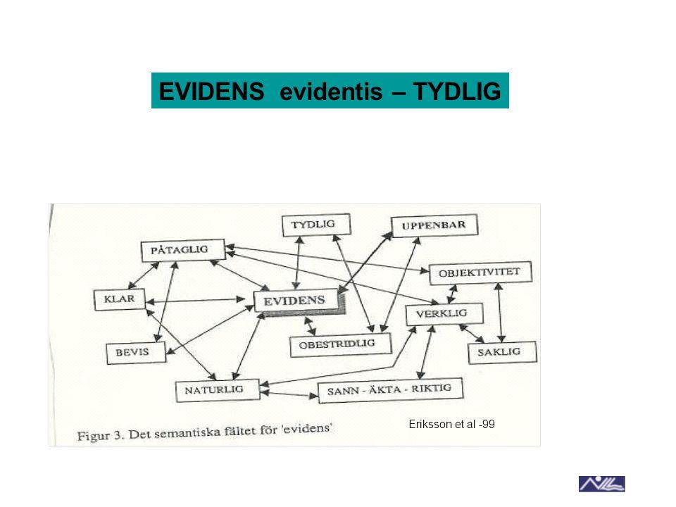 Eriksson et al -99 EVIDENS evidentis – TYDLIG