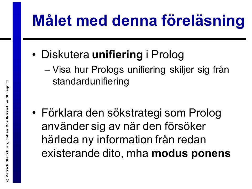 © Patrick Blackburn, Johan Bos & Kristina Striegnitz Ett nytt exempel: kampsport.pl ?- har(X, sparkar).