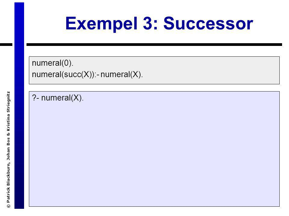 © Patrick Blackburn, Johan Bos & Kristina Striegnitz Exempel 3: Successor numeral(0).