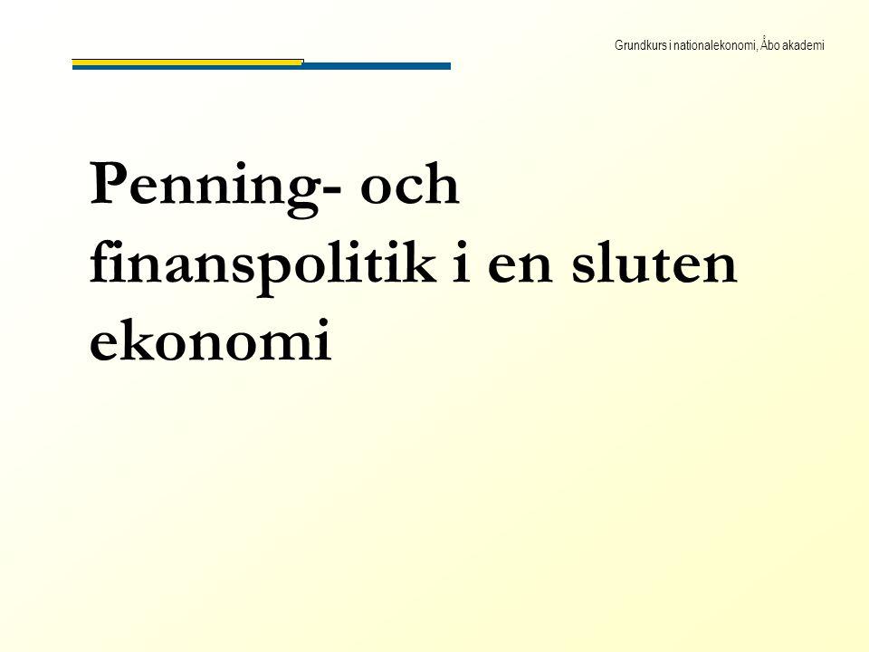 Grundkurs i nationalekonomi, Åbo akademi Penning- och finanspolitik i en sluten ekonomi