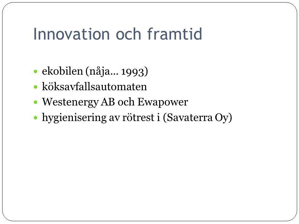Innovation och framtid ekobilen (nåja...