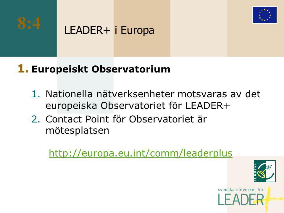 LEADER+ i Europa 1.