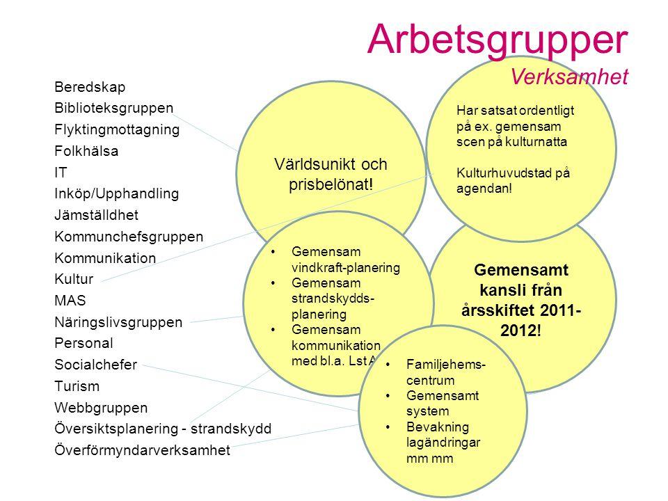 Gemensamt kansli från årsskiftet 2011- 2012.